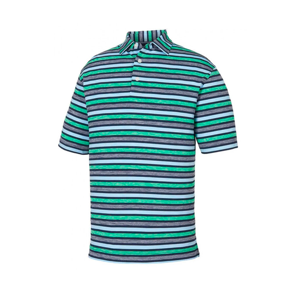 Footjoy Lisle Melange Stripe Self Collar
