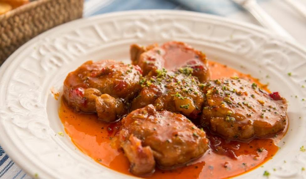 Lomo de cerdo con confitura de pimentón