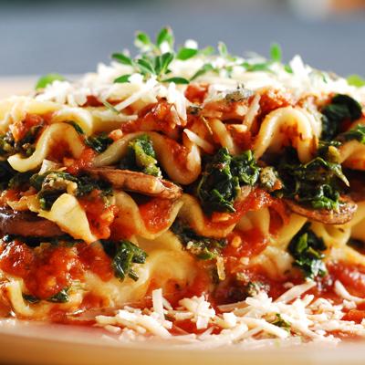 Lasaña de Espinacas con Chorizo Italiano