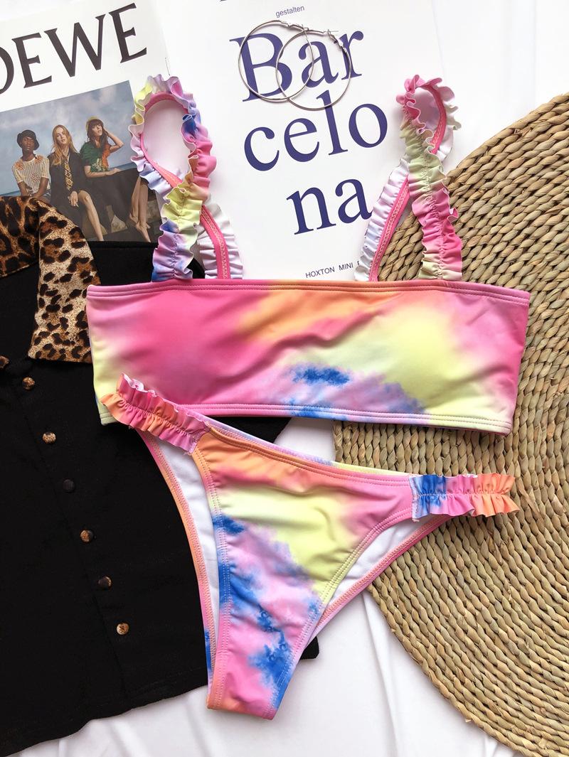Bikini Tie Dye Raimbow