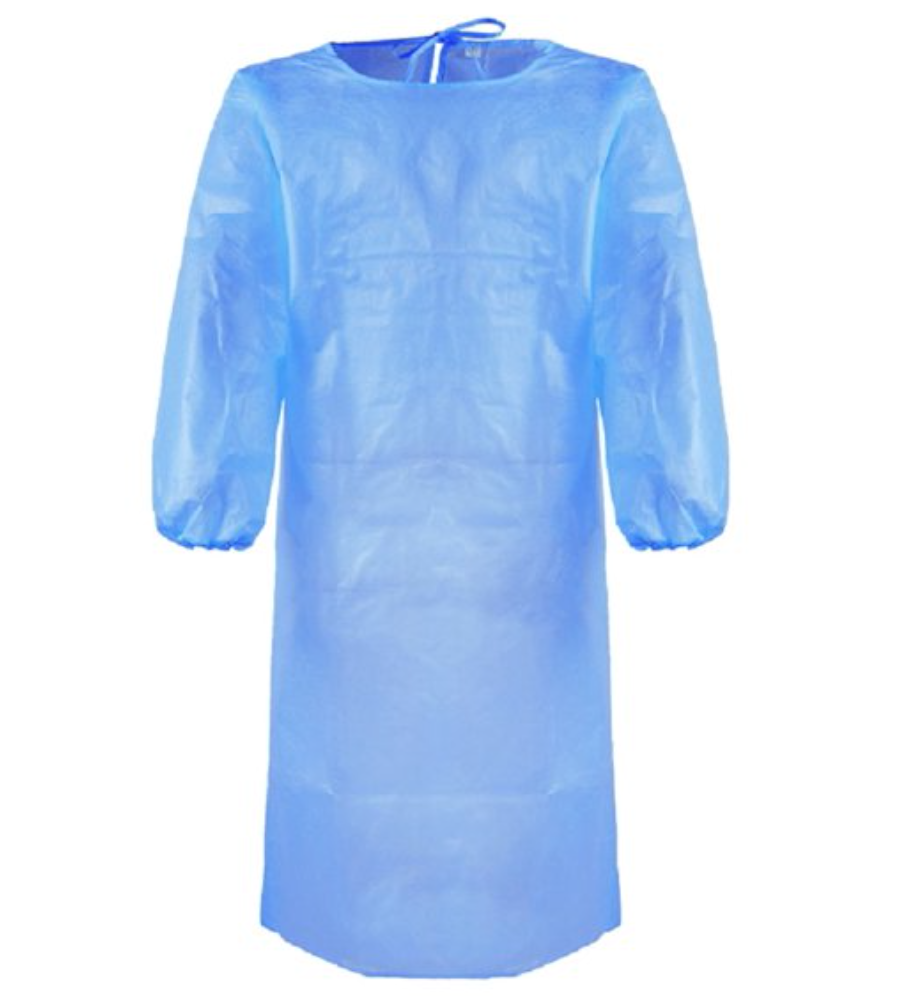 Bata de Proteção Azul - EPI - Pack 200