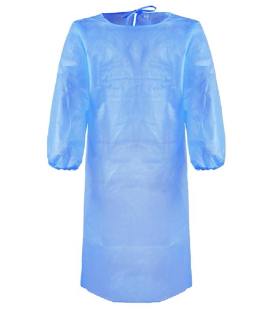 Bata de Proteção Azul - EPI - Pack 500 com OFERTA