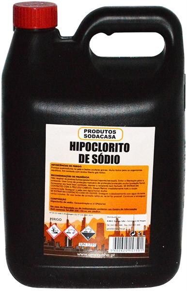 Hipoclorito de Sódio 5L