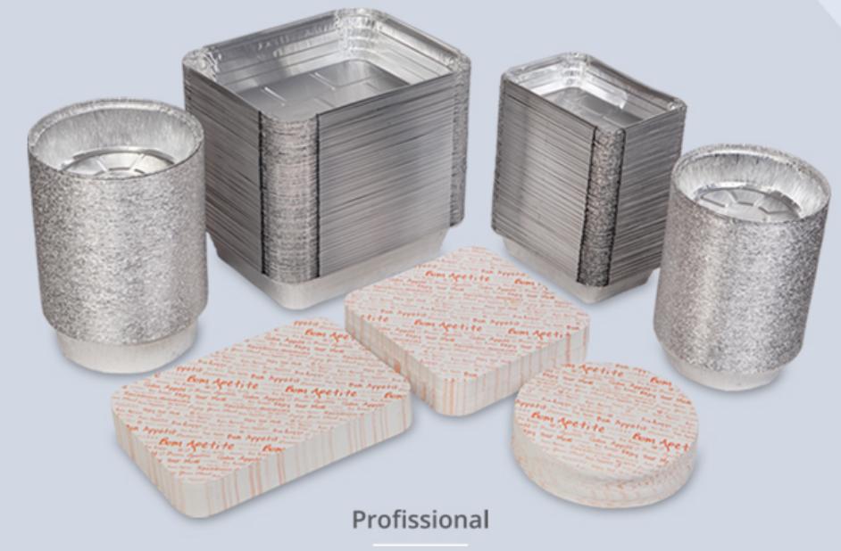 Tampas para Embalagens de Alumínio Rectângular - Pack de 100