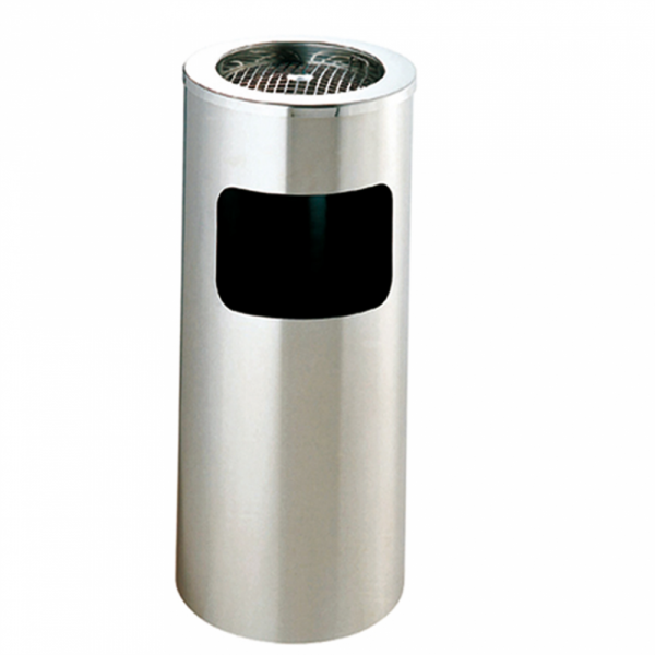 Papeleira / Cinzeiro 26x60.5 cmPrateado Inox
