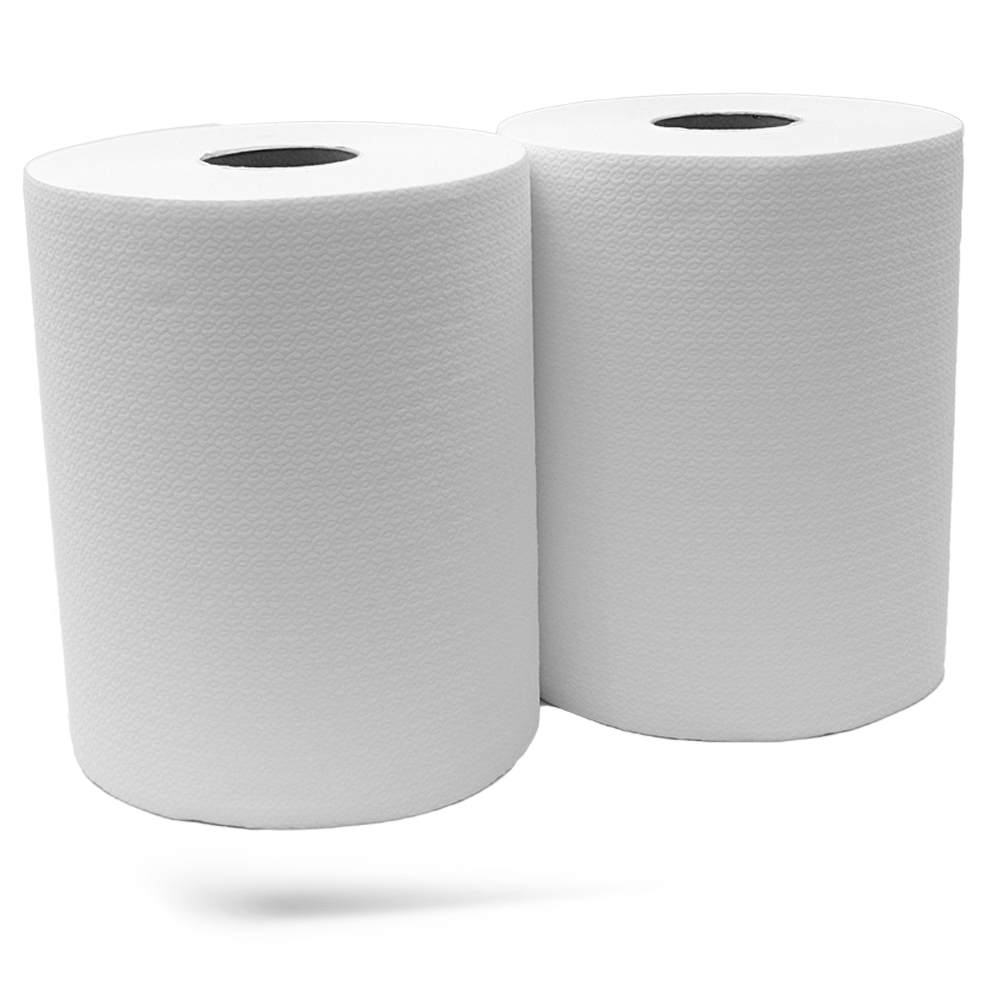 Rolo de Papel Industrial Air-Laid - Pack de 2