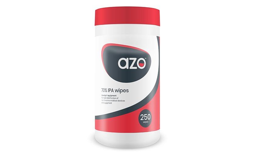Toalhetes Azo desinfetantes - 70% IPA - 250 toalhetes