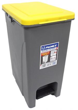 Balde de lixo de pedal 30L - Reciclagem