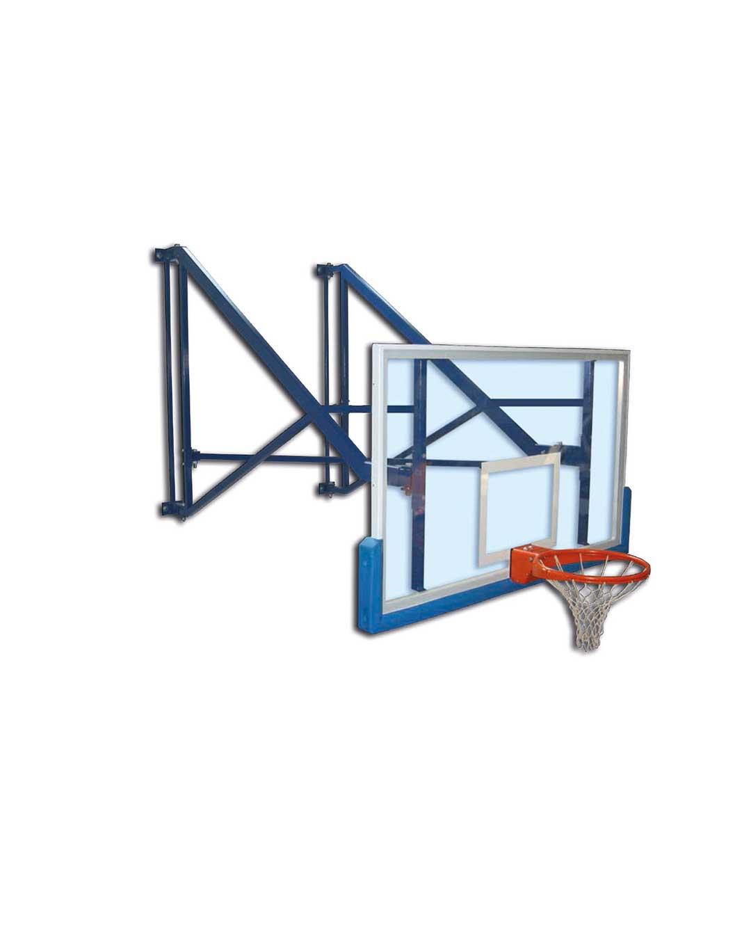 Tablero de Básquetbol indoor S04060 desplazamiento lateral y  empotrado al muro