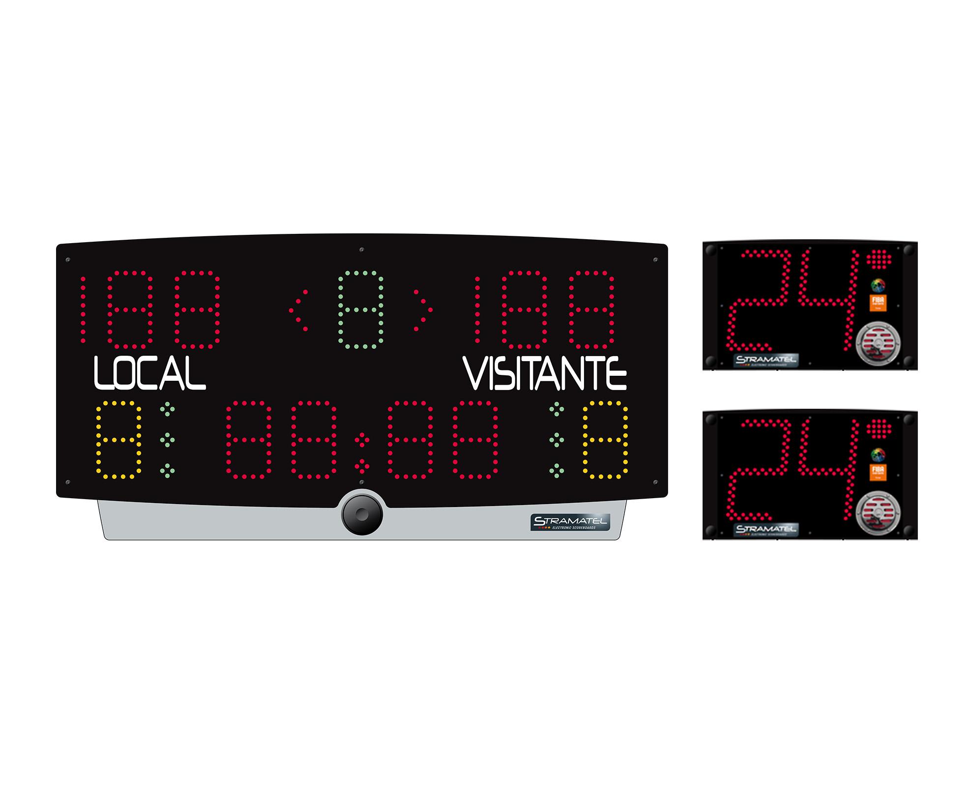 Marcador deportivo PRT/2414 (transportable) con sistema integrado 24/14 Stramatel