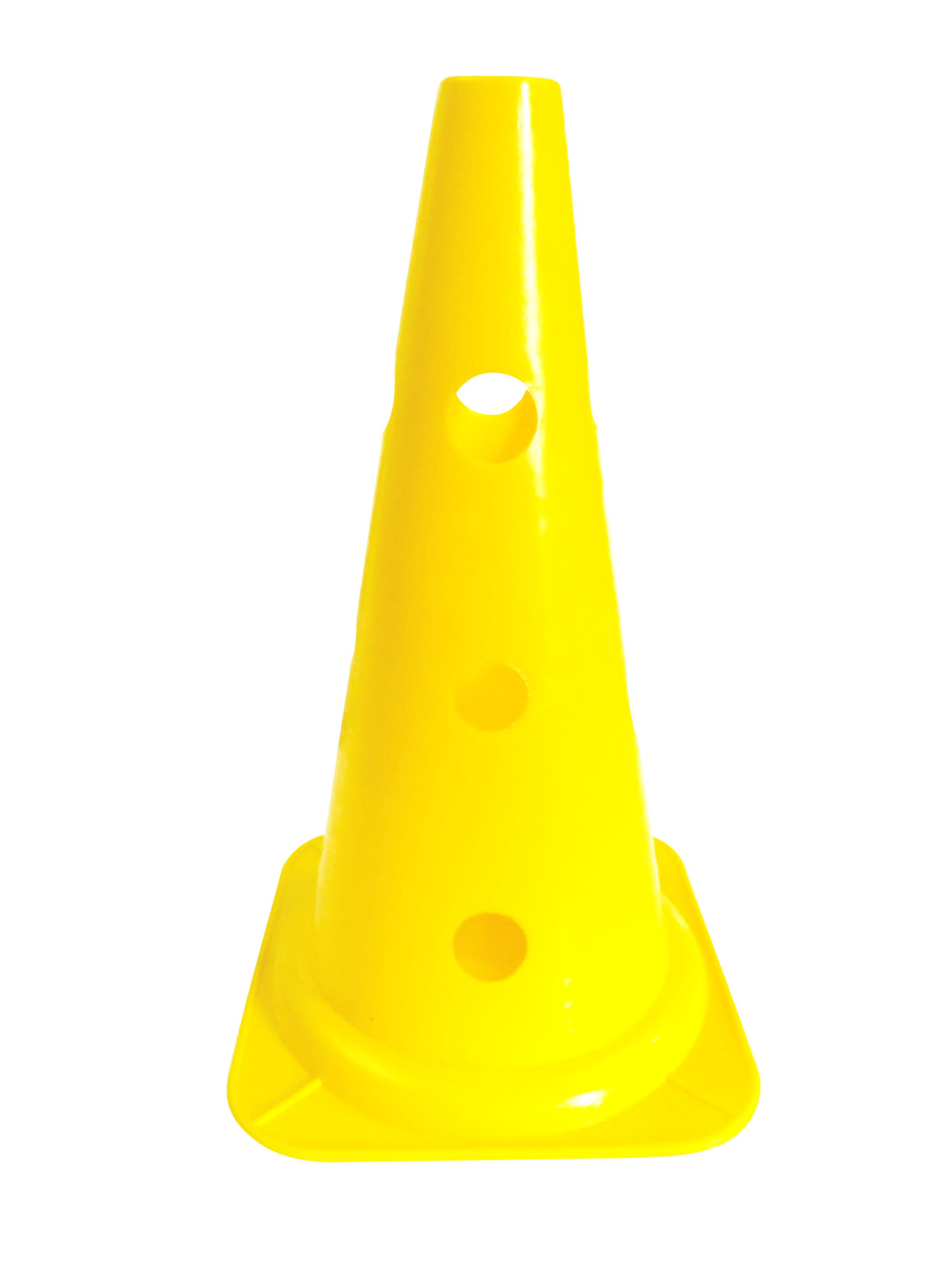 Cono perforado de entrenamiento amarillo