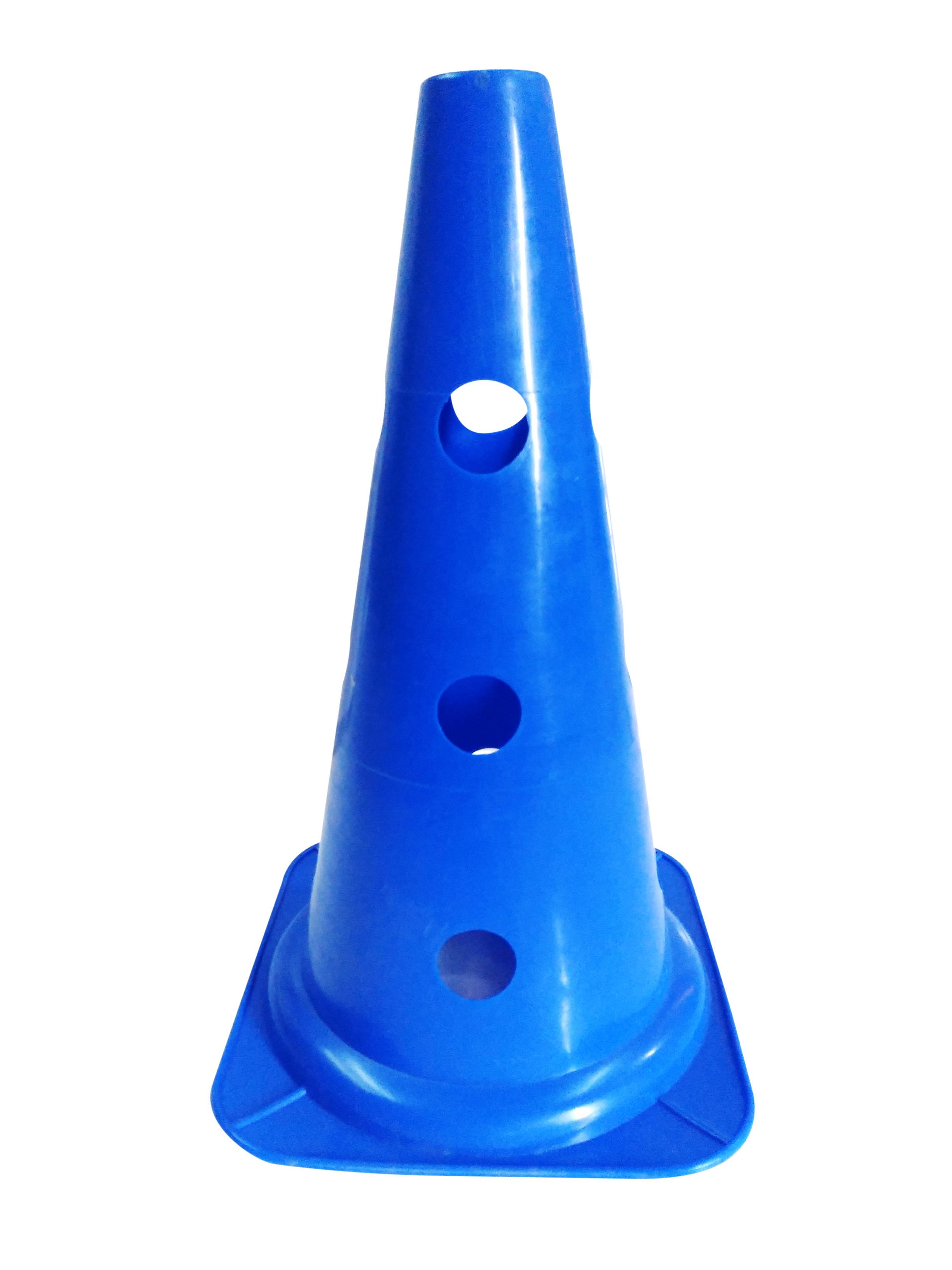 Cono perforado de entrenamiento azul