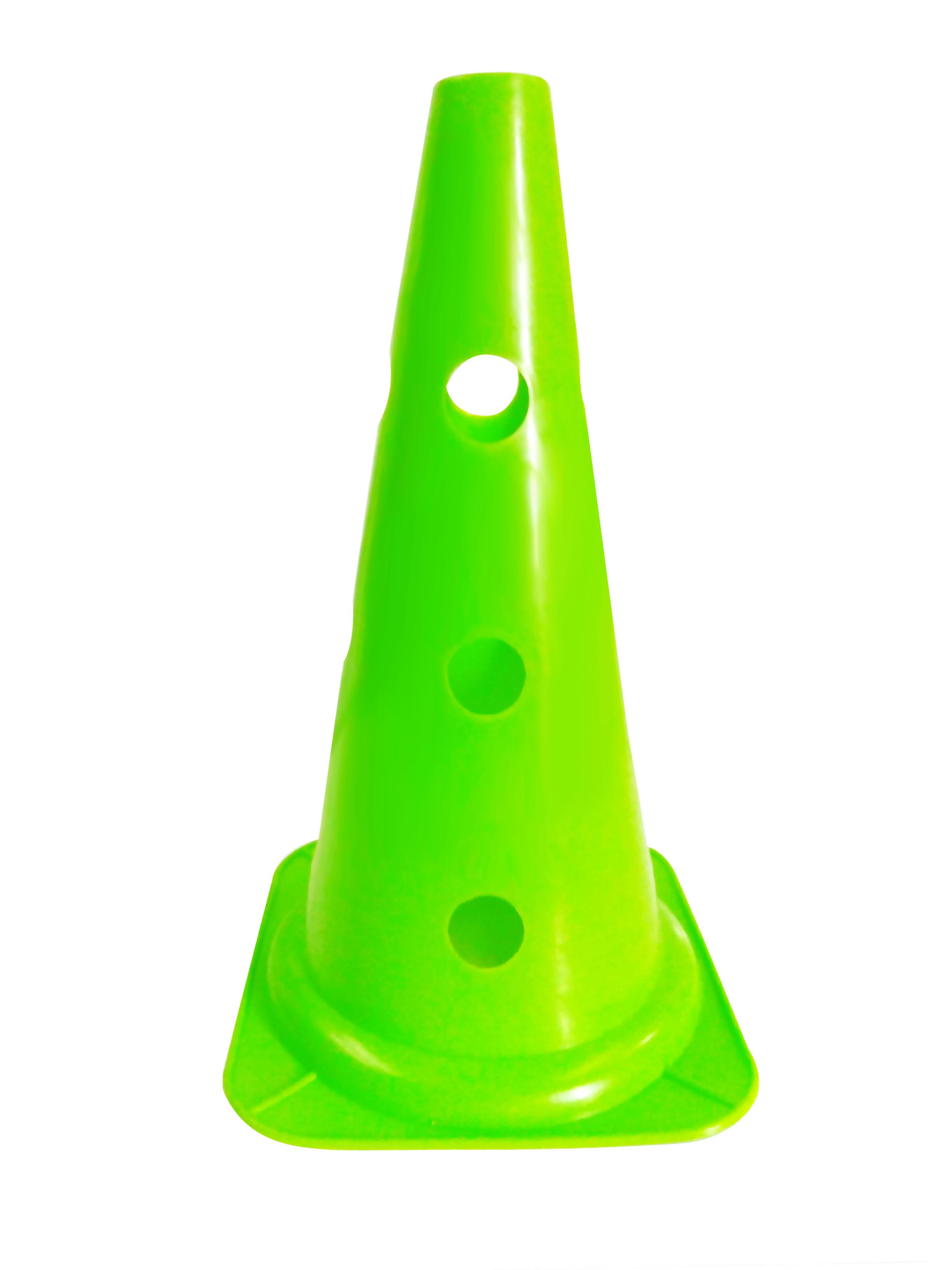 Cono perforado de entrenamiento verde