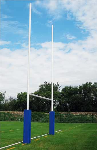 Postes (H) de Rugby de aluminio con protección marca Sport System