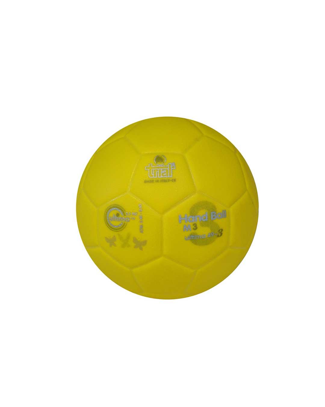Balón de Handball Marca Trial Modelo Ultima 49-3 N° 3 amarillo
