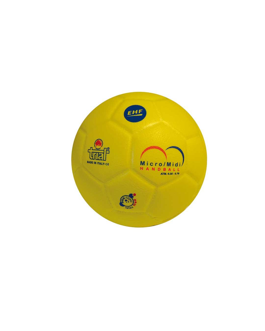 Balón de Handball Modelo One Goal Game SH1 amarillo marca TRIAL