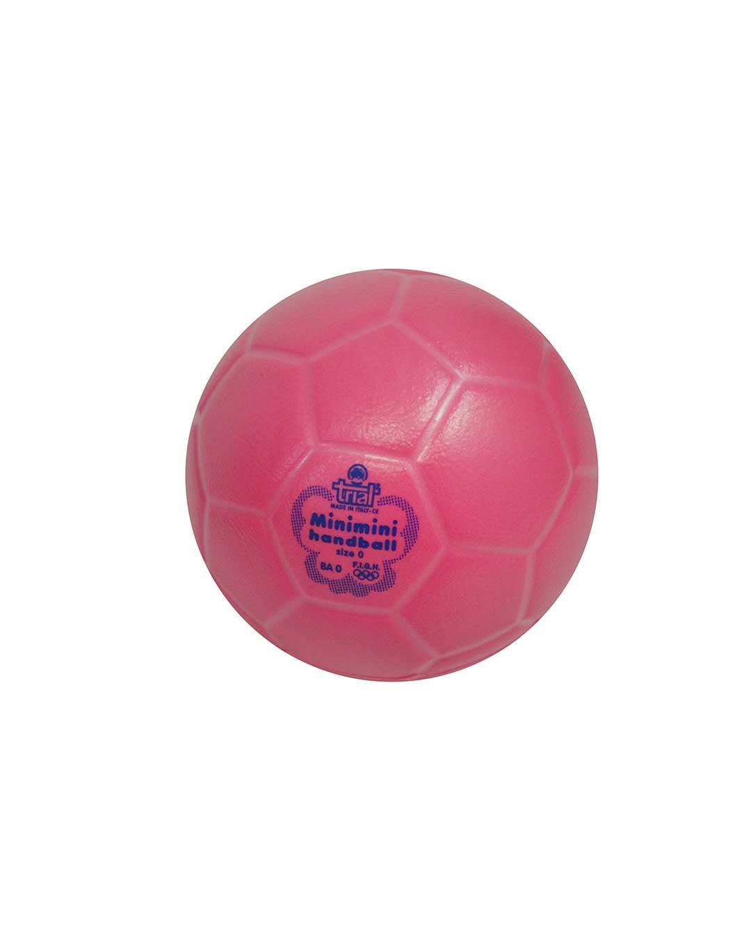 Balón de Mini Handball Marca Trial BA - No. 0 rosado