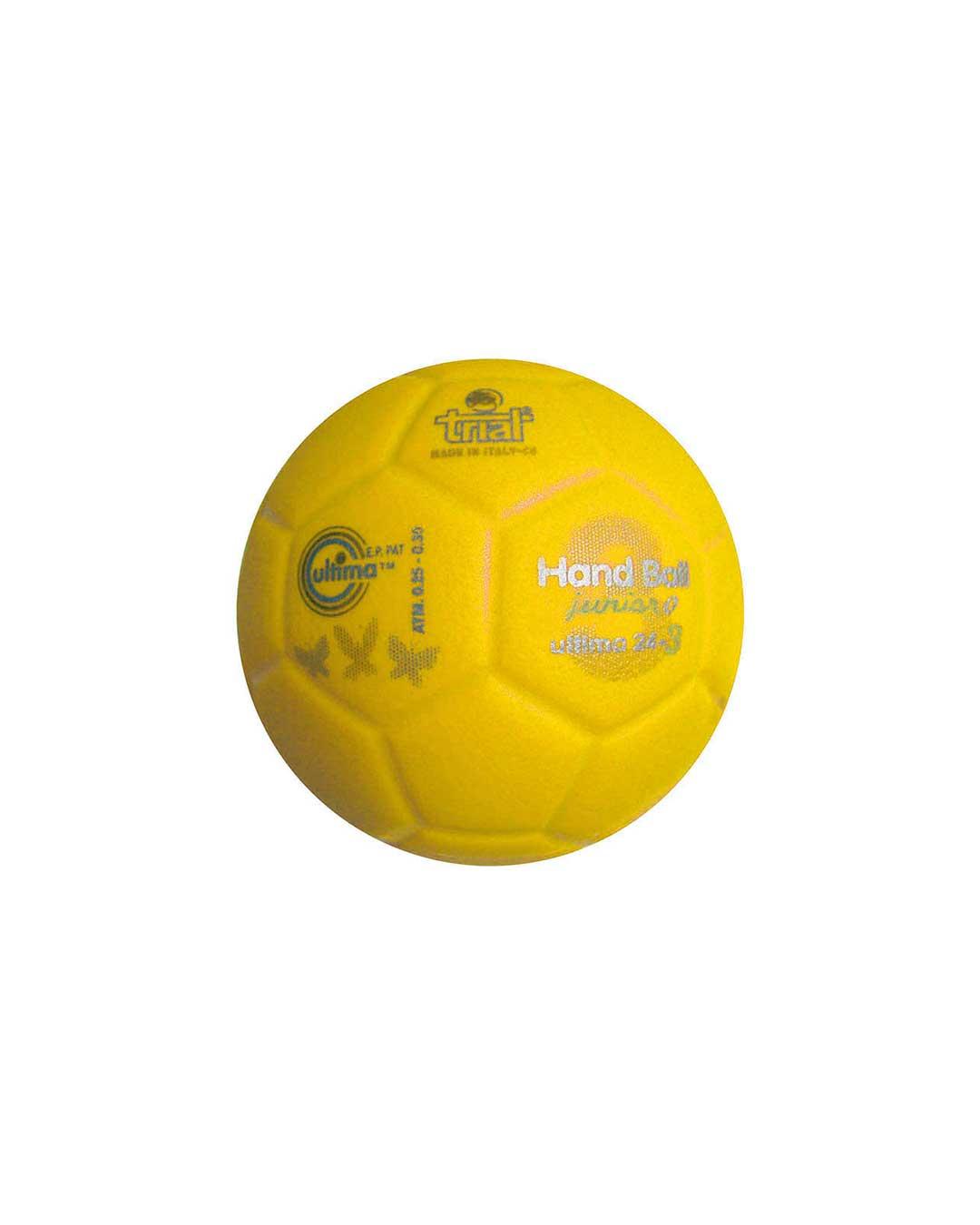 Balón de Handball marca Trial Modelo Ultima 24-3 N° 0 amarillo