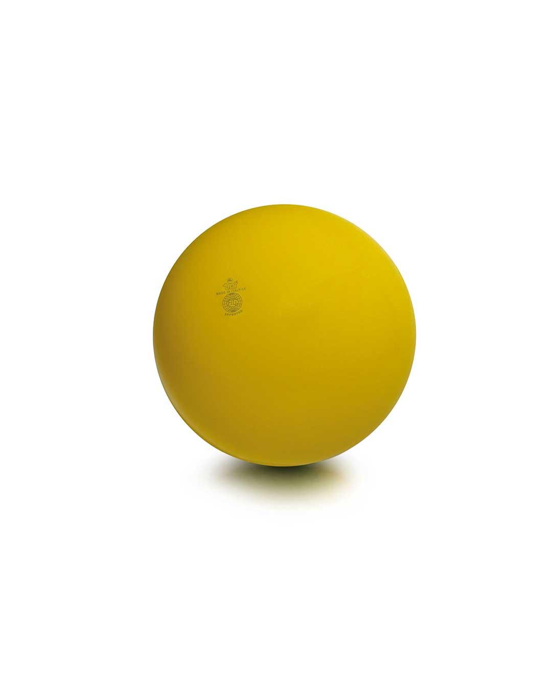 Balón liso de gimnasia rítmica TRIAL 42 amarillo