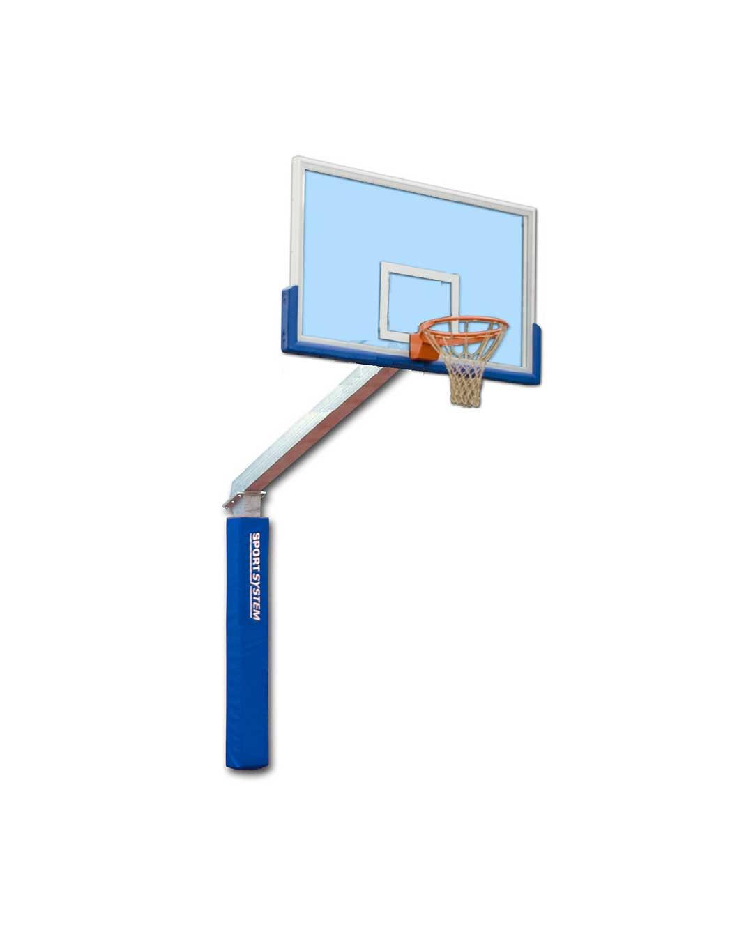 Poste de básquetbol con Tablero Plexiglas y Aro