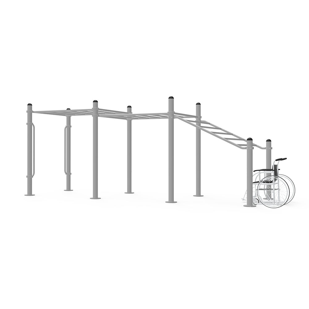 Escalera para calistenia con diseño inclusivo