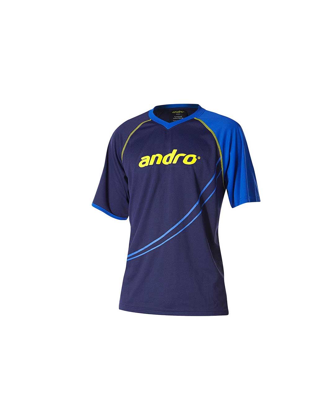 Polera Andro Dillon Hombre Azul/Amarillo