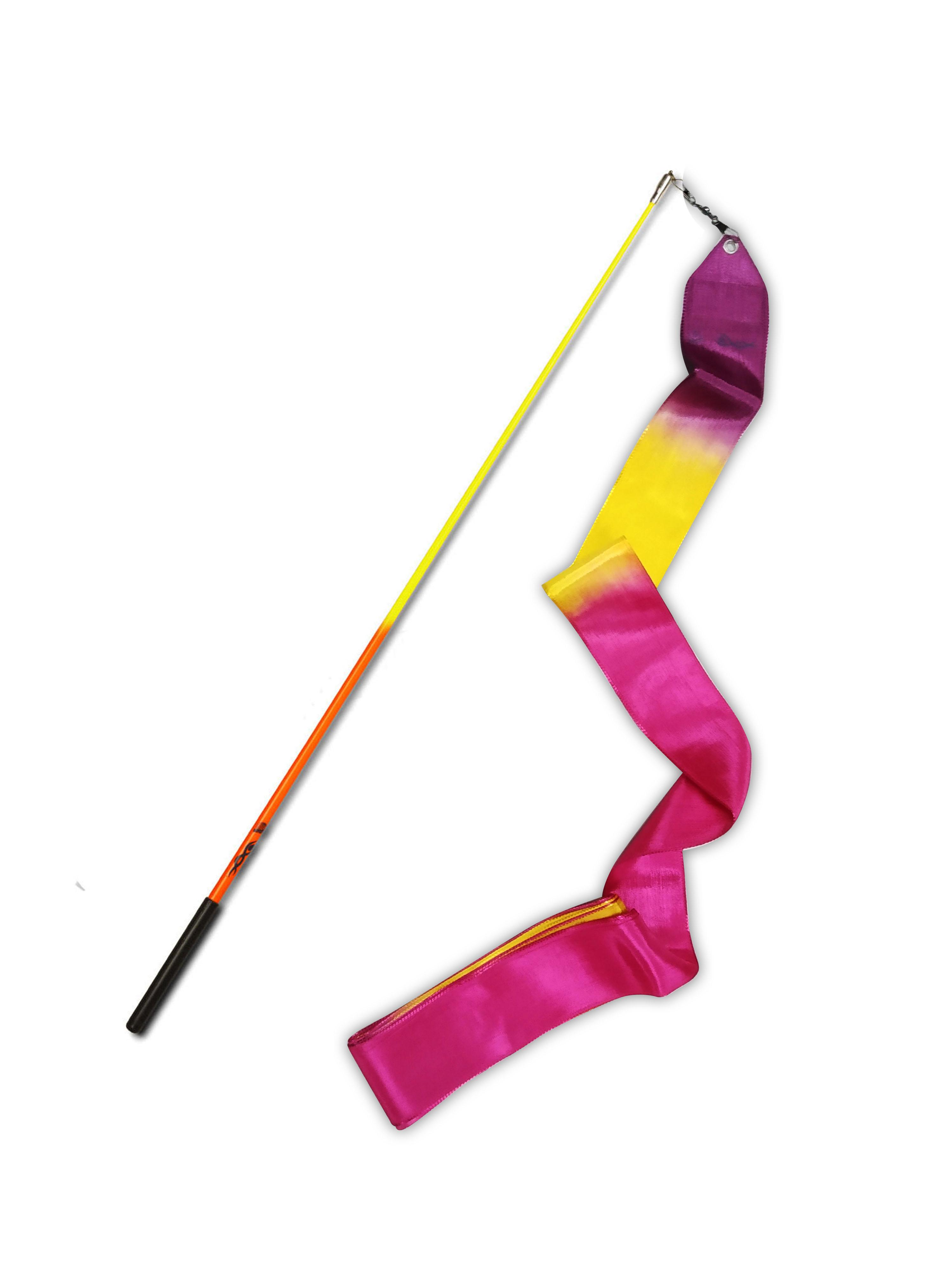 Estilete bicolor con cinta Nastro 06 de gimnasia rítmica (Certificada FIG)