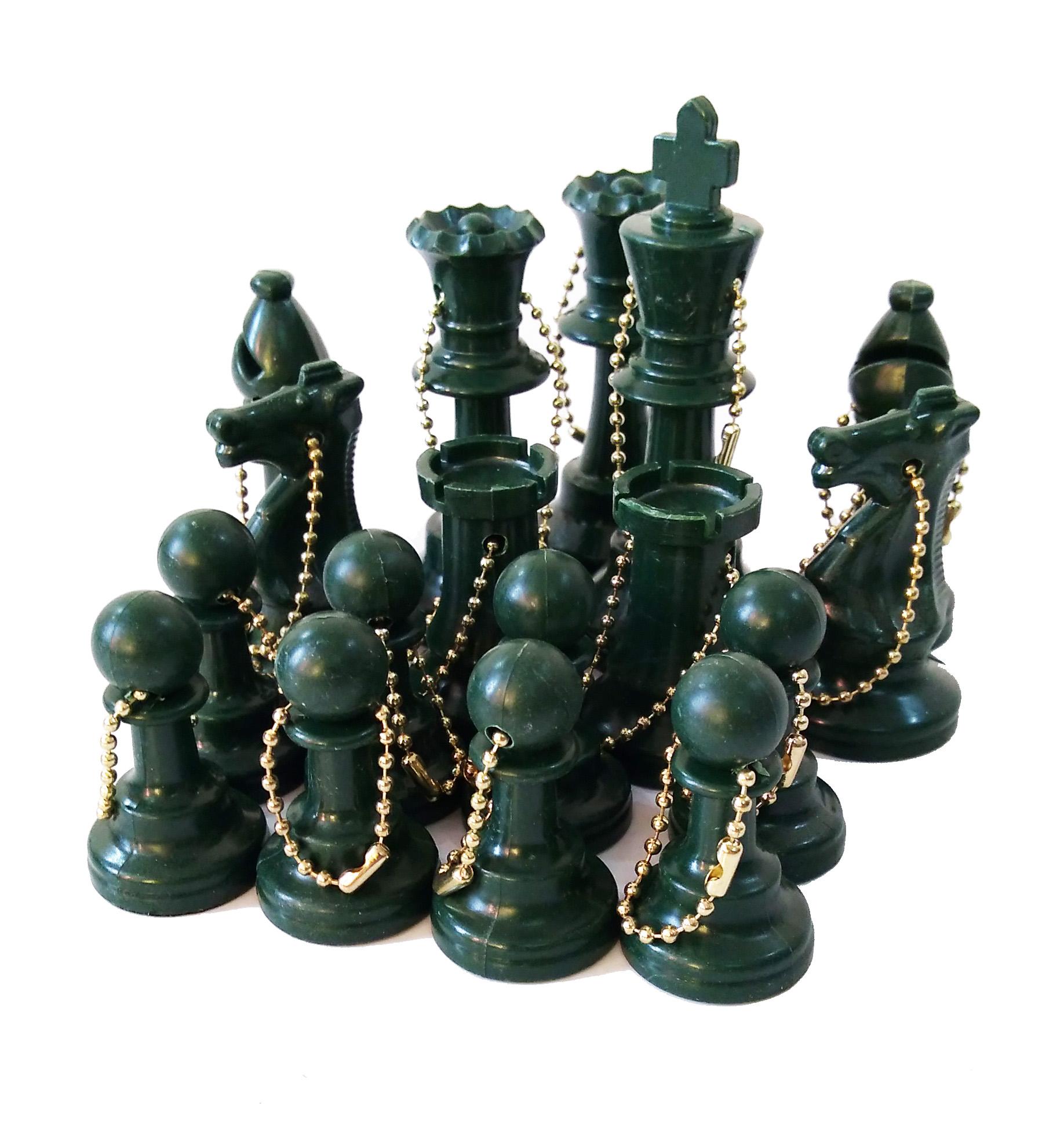Set de 17 llaveros - color Verde
