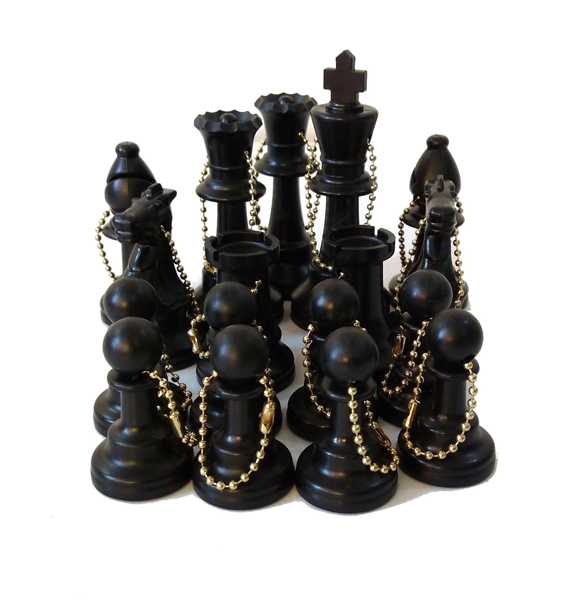 Set de 17 llaveros Color Negro