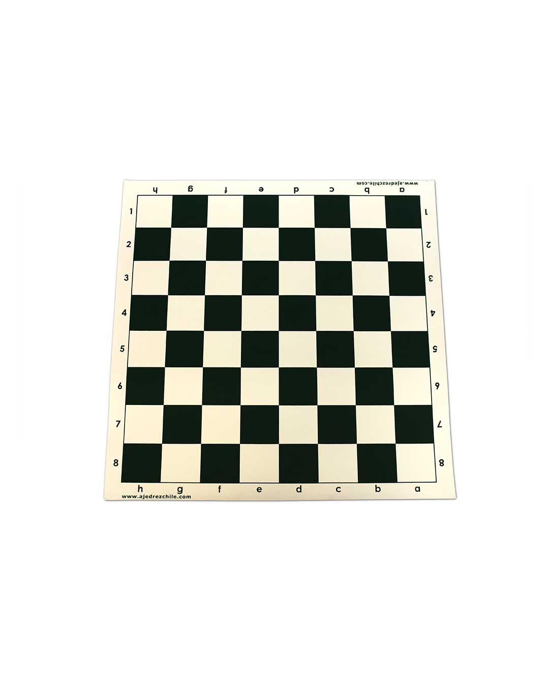Tablero Ajedrez de vinilo negro 51 cm