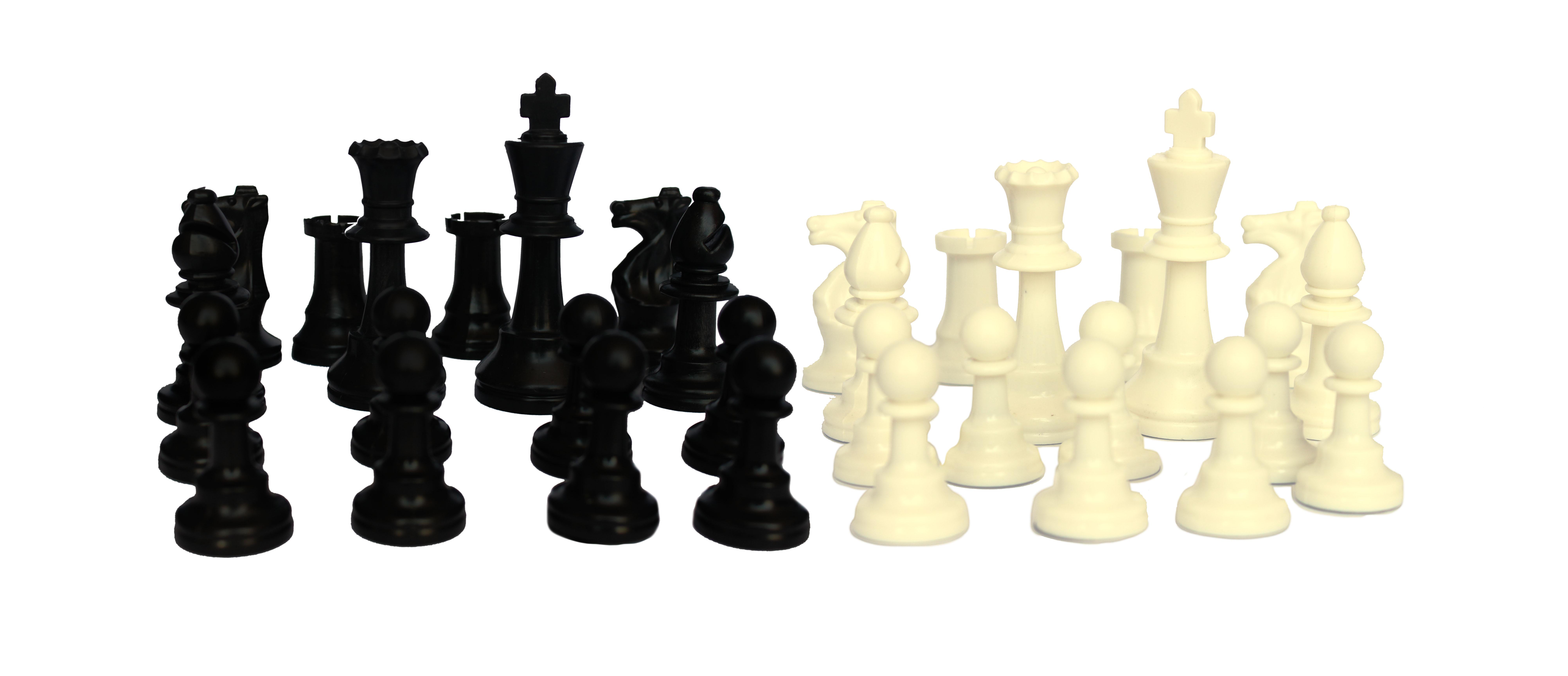 Piezas de ajedrez de SILICONA tamaño oficial