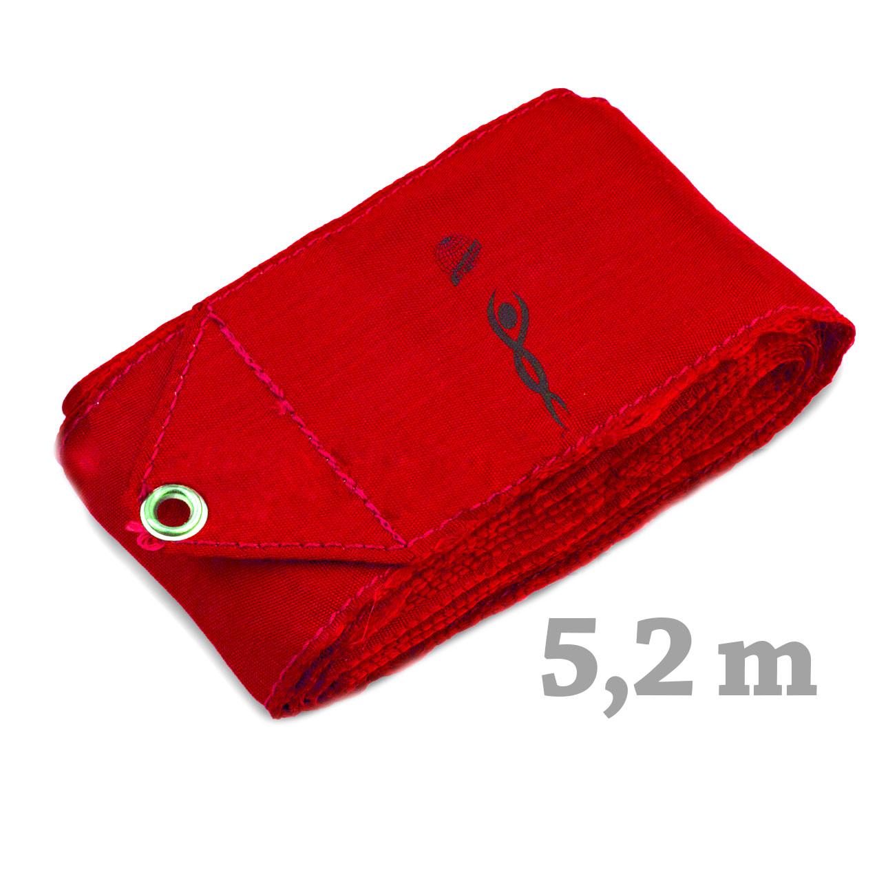 Cinta Gimnasia rítmica marca VNT (certificadas FIG) roja 5.2 m RIB516-016