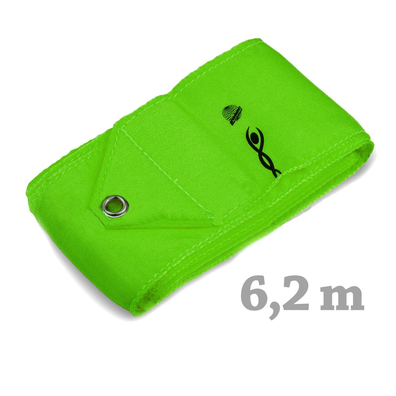 Cinta Gimnasia rítmica marca VNT (cert. FIG) Verde neón 6,2 m RIB616-113