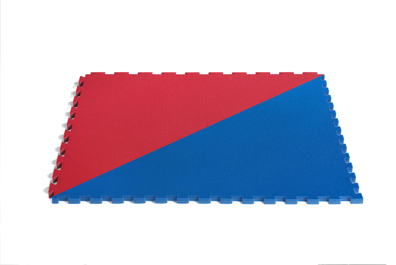 Tatami Oficial Tae Kwon Do WT Octagonal Azul-Rojo