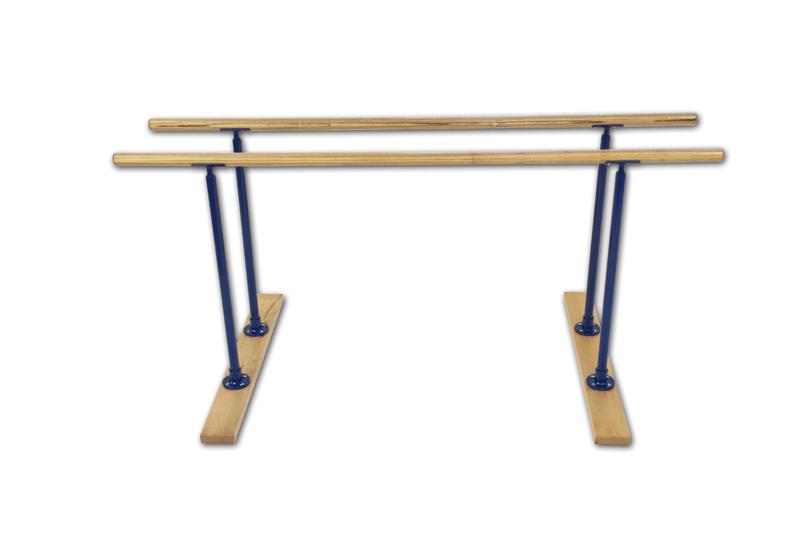Barras paralelas fijas de gimnasia artística - entrenamiento escolar - largo 230 cm (S00160)