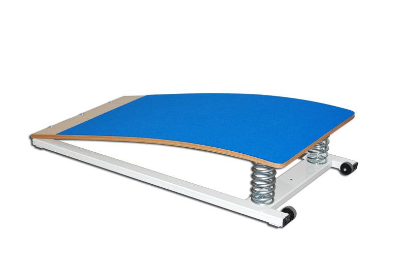 Trampolín de salto para gimnasia artística alfombra azul y resortes 120x60x16 cm (S00202)