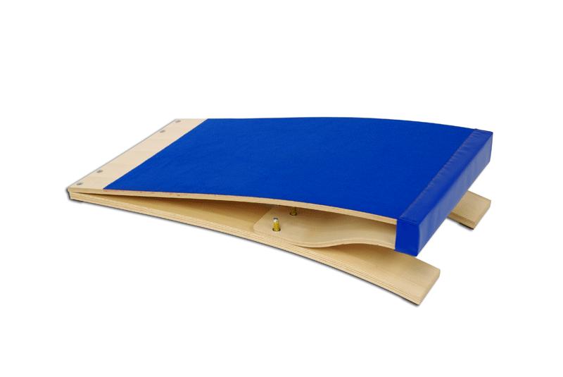 Trampolín de salto para gimnasia artística alfombra azul 120x60x23 cm (S00210)