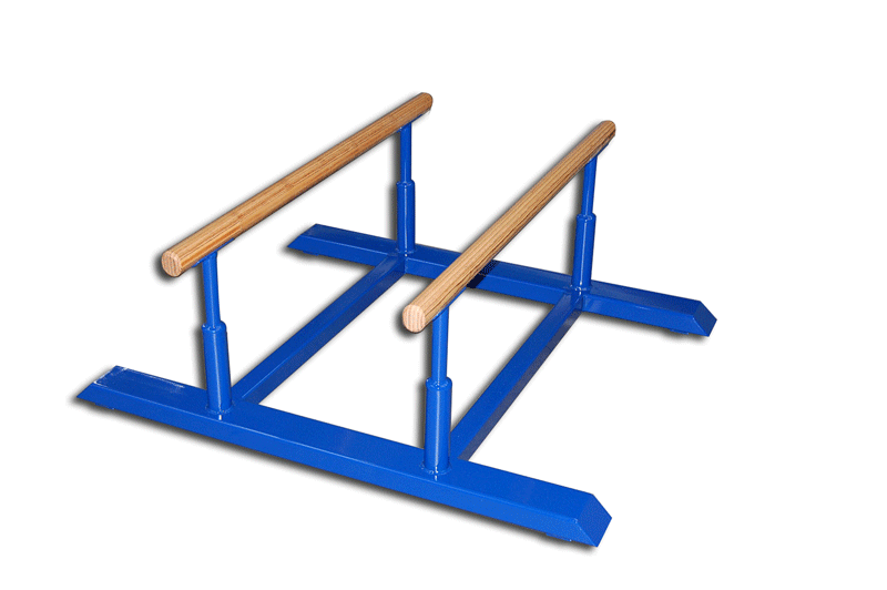 Mini barras paralelas fijas de gimnasia artística - altura 40 cm (S00162)
