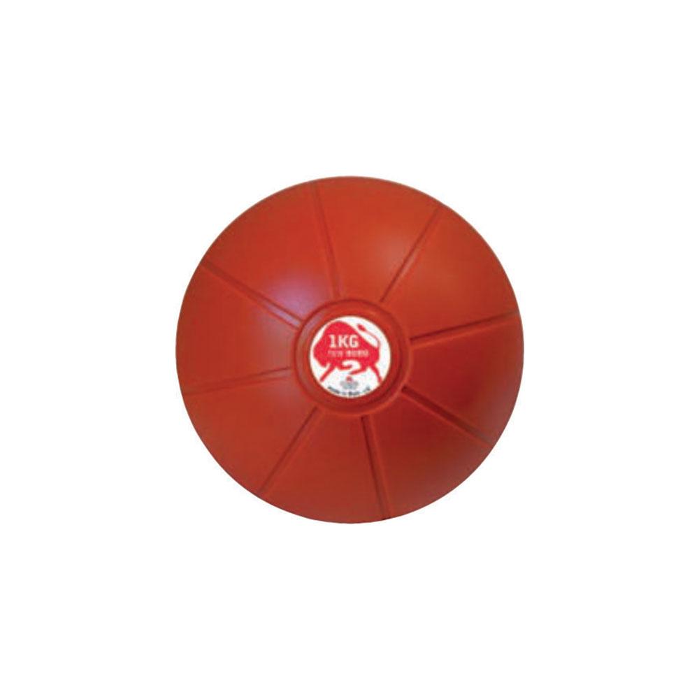 Balón Medicinal 1 KG Rojo, 19 cm, Marca Trial