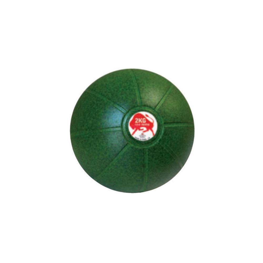 Balón Medicinal 2 KG Verde, 19 cm, Marca Trial