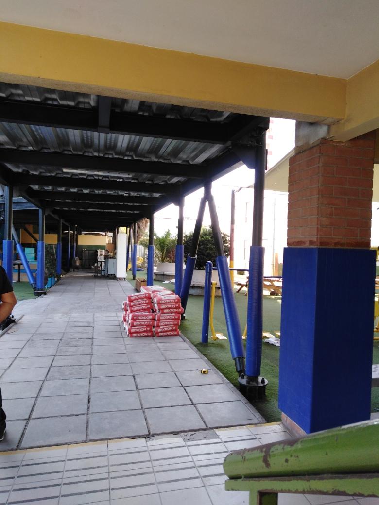 Pads de protección para pilares y muros de exterior - comuna de La Cisterna