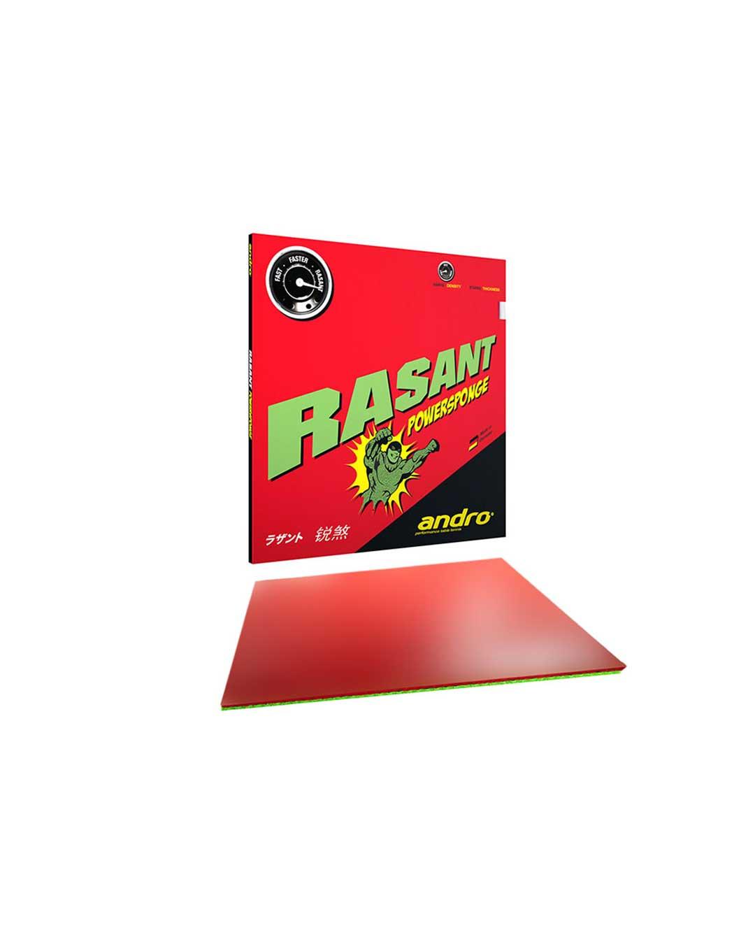 Goma Tenis de Mesa Andro Rasant Powersponge Red 2.1 mm