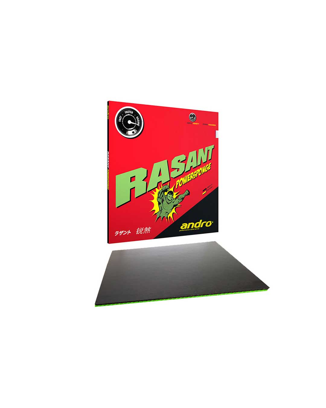 Goma Tenis de Mesa Andro Rasant Powersponge Black 2.1 mm