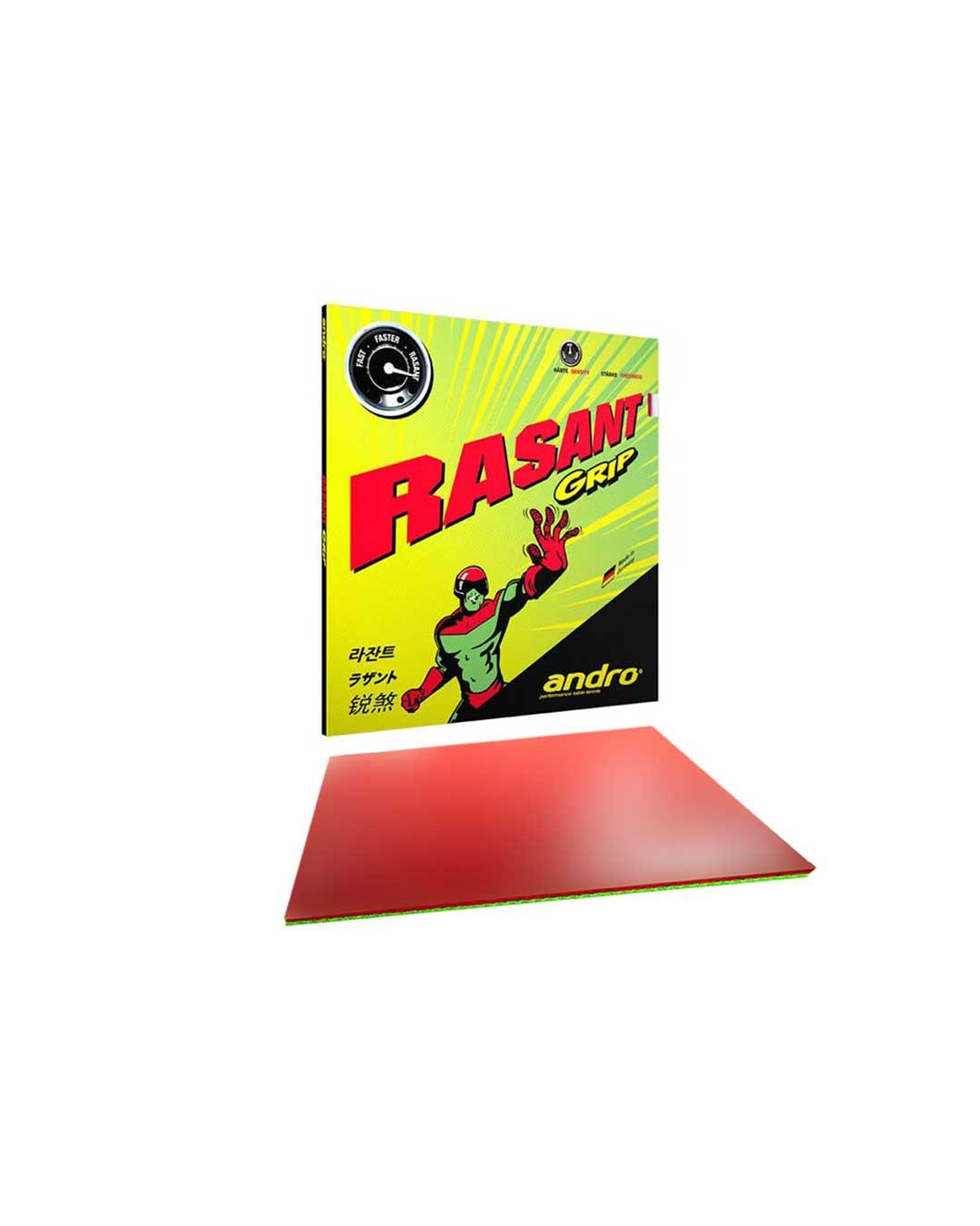 Goma Tenis de Mesa Andro Rasant Grip Red 2.1 mm