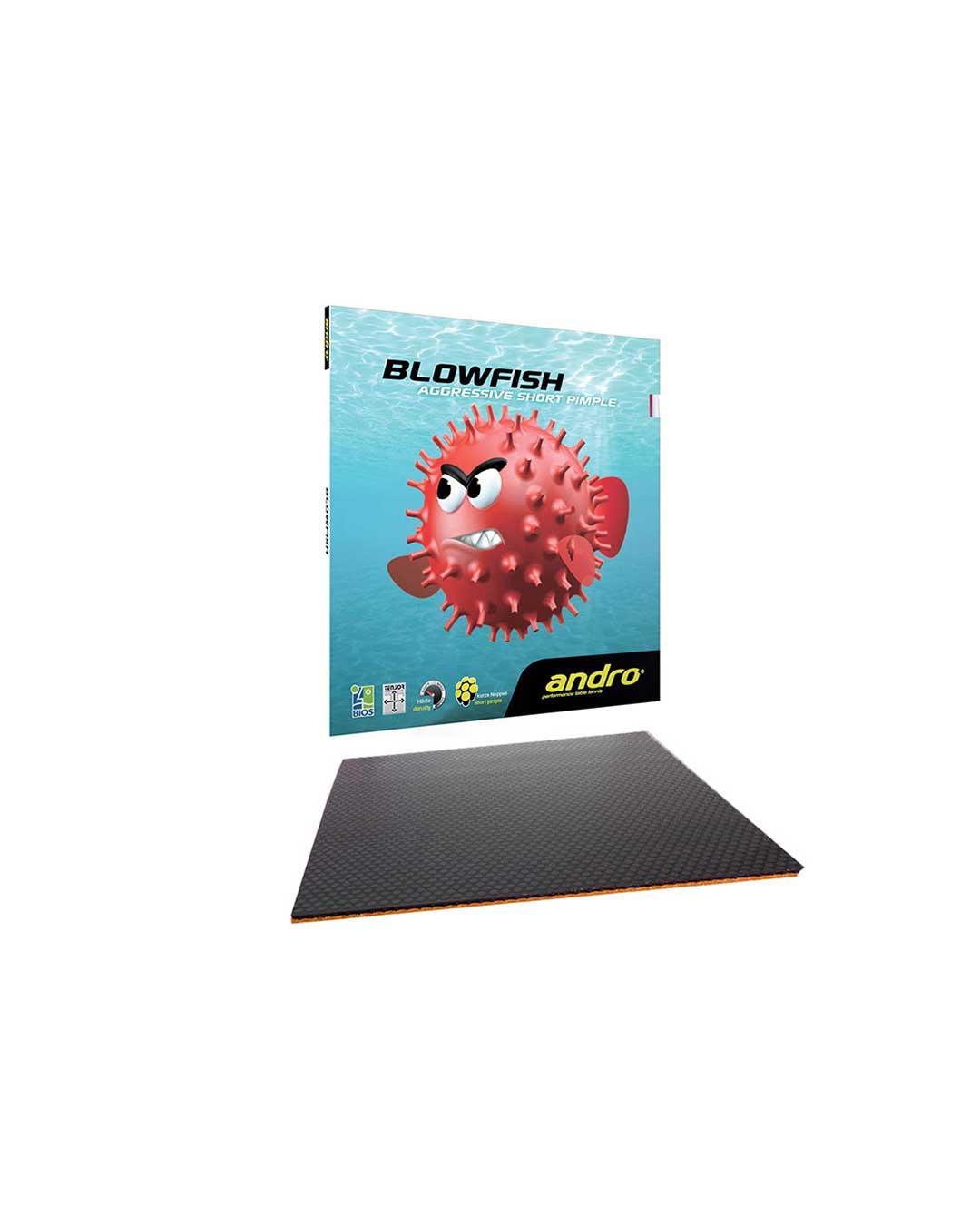 Goma Tenis de Mesa Andro Blowfish Black Max 2.2 mm
