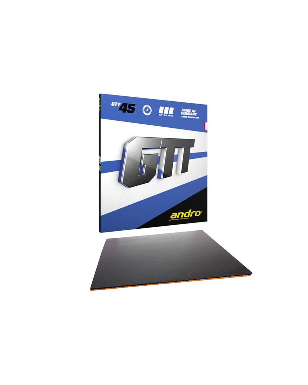 Goma Tenis de Mesa Andro GTT 45 Black 2.2 mm