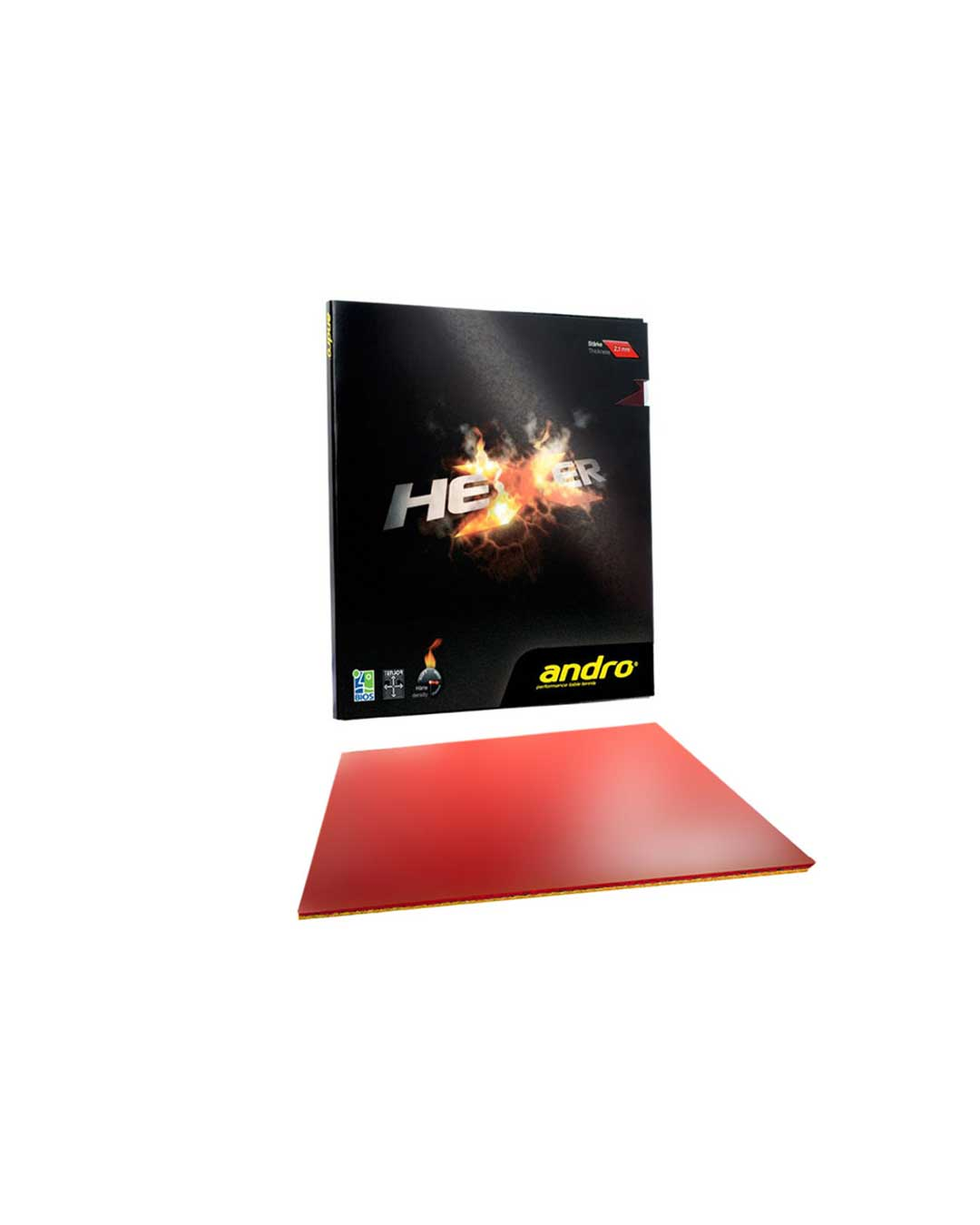 Goma Tenis de Mesa Andro HeXer Red 2.1 mm