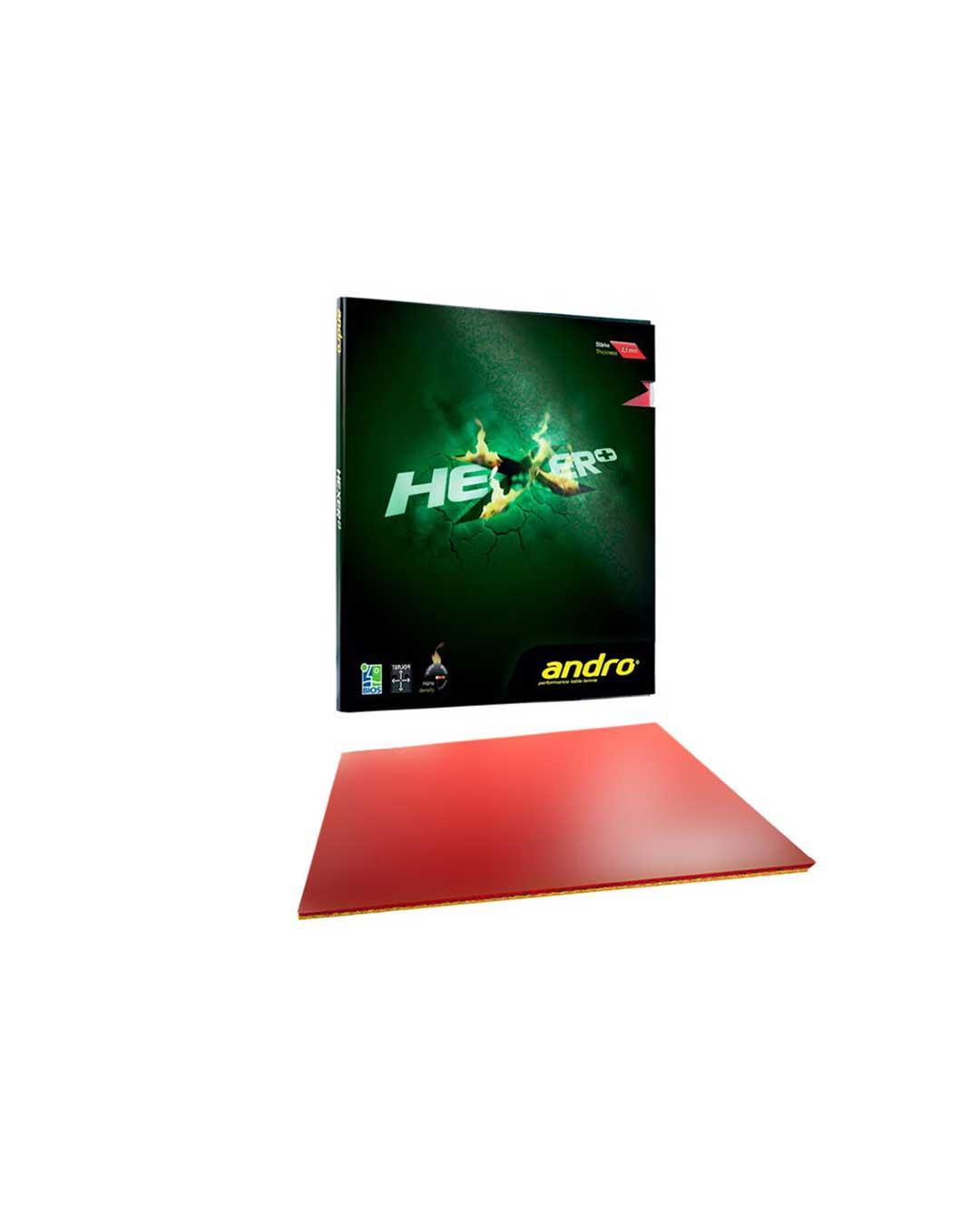 Goma Tenis de Mesa Andro HeXer+ (más) Red 2.1 mm