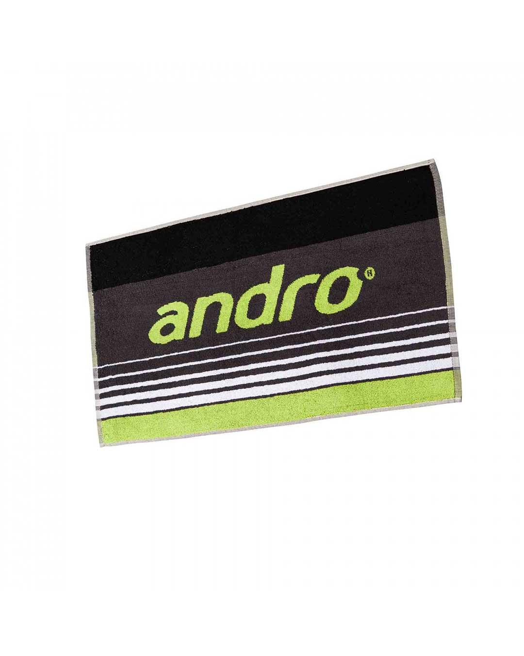 Toalla marca Andro Spike Tenis de Mesa Negro/Verde