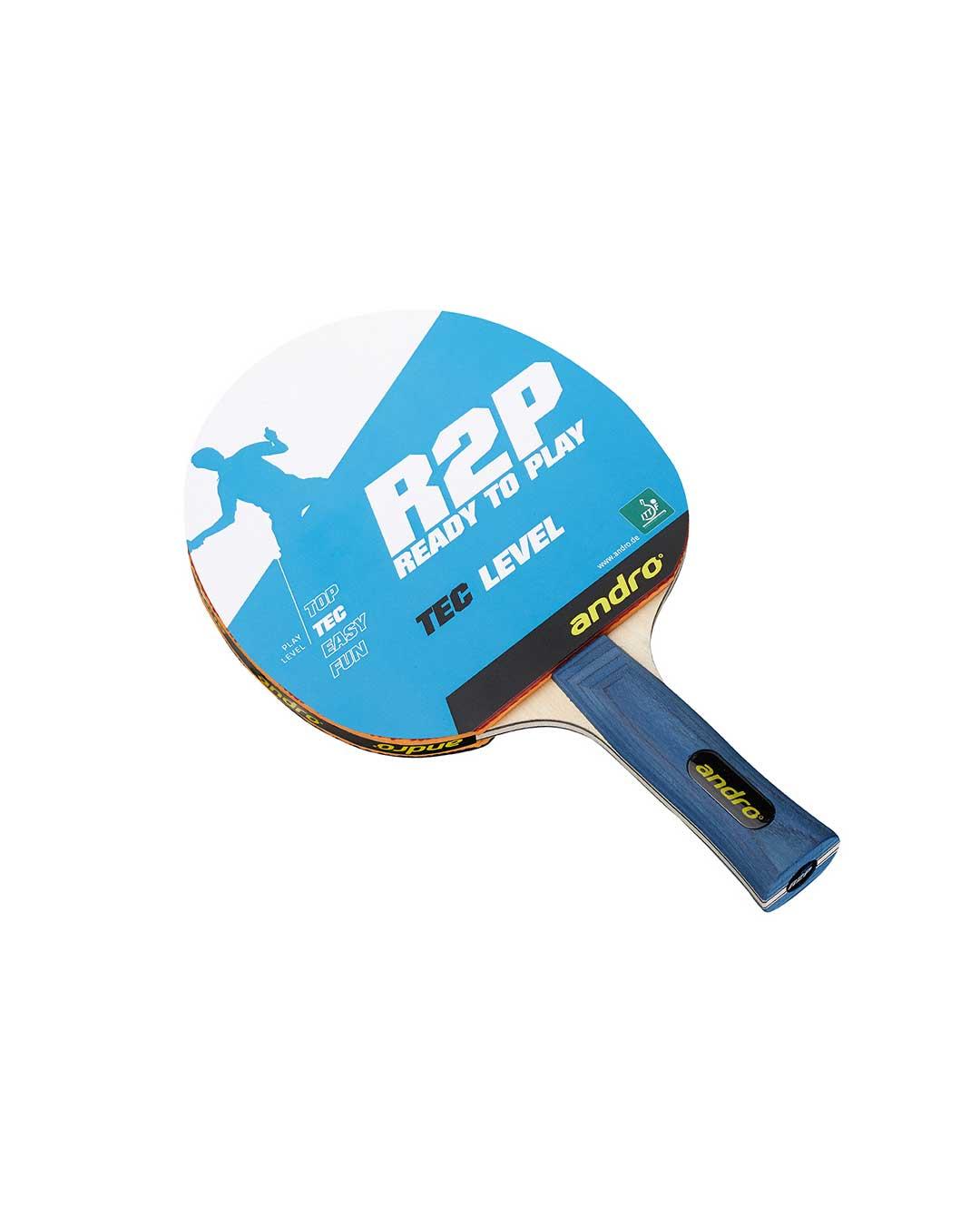 Paleta Tenis de Mesa marca Andro Competición R2P Tec Level flaired ITTF